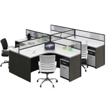臻遠 干字型四人位屏風桌,不含椅子,2800*2400*1100