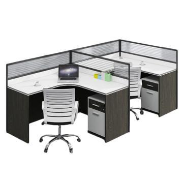 臻遠 F型雙人位屏風桌,不含椅子,2800*1200*1100