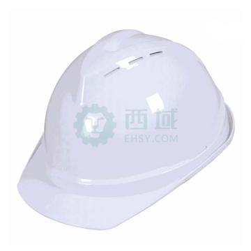 日月星 安全帽,SD-98-白色,V型带透气孔ABS安全帽,正面印华为红LOGO(同系列20顶起)