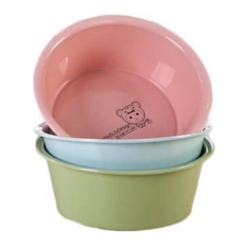 西域推荐 塑料盆,直径35*深度12.5cm,颜色随机