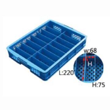 西域推荐 16格零件箱,外尺寸643*483*115mm,小格尺寸220*68*75mm