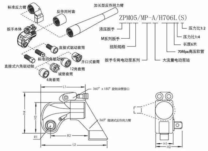 凯特克HYTORC 10型驱动轴总成,XLT-10-05-1
