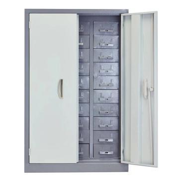 西域推荐 工具整理柜 铁盒带门,高940*长620*深360mm