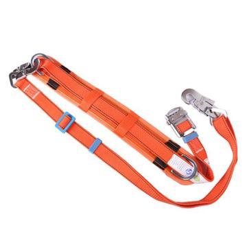8113820 围杆作业安全带DXW2Y电信工围杆绳单腰带式,涤纶,锦纶,电信工,围杆绳,单腰带式,橘黄色