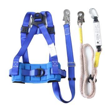 8113820 围杆作业安全带T2W2Y穿绳式单腰带,涤纶,锦纶,穿绳式,单腰带,蓝色