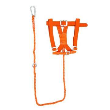 8113820 围杆作业安全带坠落悬挂双背半身式,丙纶,坠落悬挂双背半身式,橘黄色