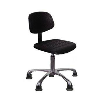 佰斯特 Y-6L型防静电聚氨酯工作椅,390-510mm弹簧钢 铝合金五星爪/固定脚杯 防滑花纹,PST-CSJX-01