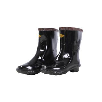 8113820 高压绝缘靴半筒耐压350 0 0 V,橡胶,半筒耐压350 0 0 V,黑色