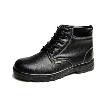 8113820 绝缘棉皮鞋B-0 1防砸牛皮头革耐压10 kV,防砸,牛皮头革,耐压10 kV,黑色灰底