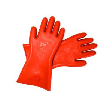8113820 绝缘手套,天然橡胶,耐压120 0 0 V,橘黄色,均码