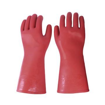 8113820 绝缘手套,天然橡胶,耐压250 0 0 V,橘黄色,均码