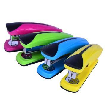 晨光 M&G 炫彩辦公訂書機,ABS91641 裝訂能力20頁 (紅、藍、綠、黃,顏色隨機) 單個