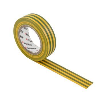 伍尔特 电工绝缘胶带,0985109,黄绿色,15MMX10M/卷