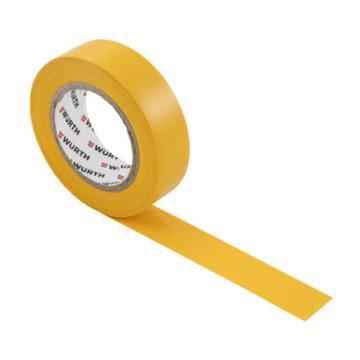 伍尔特 电工绝缘胶带,0985107,黄色,15MMX10M/卷