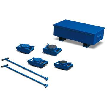 Raxwell 15噸重型滑動輪組件,含4個SVP3.75,2個操控手把,1個工具盒,RMWS0013