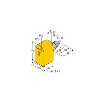 图尔克 流量传感器,FCS-G1/2A4P-LIX-H1141/D037