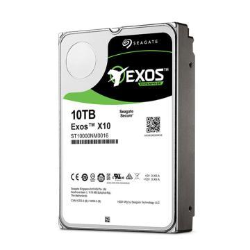 希捷企业级硬盘,ST10000NM0016 10TB 256MB 7200RPM SATA接口 希捷银河Exos X10系列