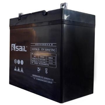 风帆SAIL 储能蓄电池,12V/55Ah,6-GFM-55