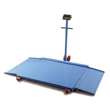 Raxwell 1000Kg可移动式地磅(带可折叠斜坡),平台尺寸:1000*1000mm,RMPG0014