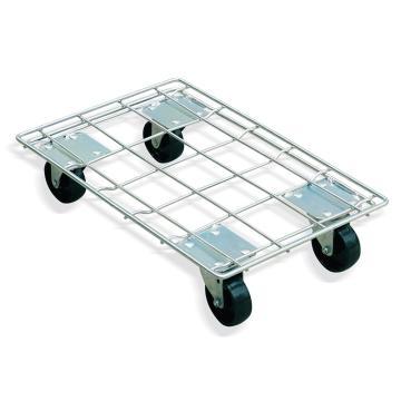Raxwell 400Kg鍍鋅四輪周轉箱車,適用于600*400mm周轉箱,RMCT0001