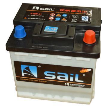 風帆SAIL 免維護啟動系列蓄電池,12V/51Ah,6-QW-51