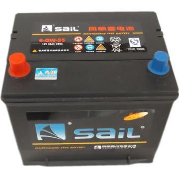 風帆SAIL 免維護啟動系列蓄電池,12V/55Ah,6-QW-55