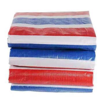 Raxwell 雙膜彩條布,尺寸寬*長:12*30M,75-80g/平方米,PP聚丙烯膜