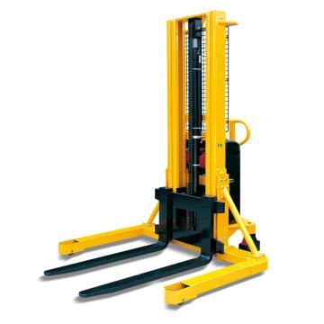 Raxwell 宽支腿型半电动液压堆高车,锻造可调货叉外宽230-790mm,RMCE0019
