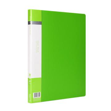 齐心 欢颜资料册,VF30AK A4 30袋 绿 单个