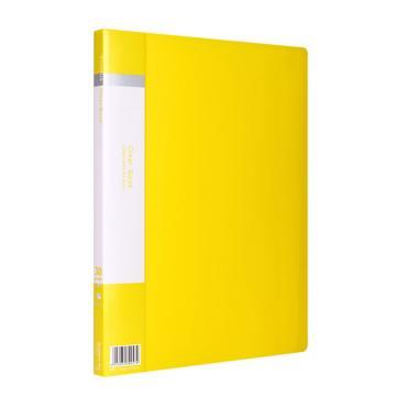 齐心 欢颜资料册,VF30AK A4 30袋 黄 单个