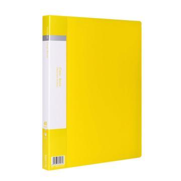 齐心 欢颜资料册,VF40AK A4 40袋 黄 单个