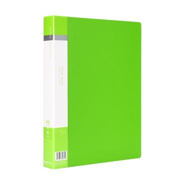 齐心 欢颜资料册,VF60AK A4 60袋 绿 单个