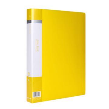 齐心 欢颜资料册,VF60AK A4 60袋 黄 单个