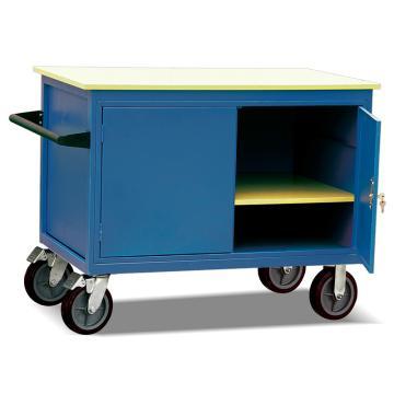 Raxwell 500KgD型可移动工具柜车,台面1150*700 台面高度930mm 带抽屉和门柜(1.5mm厚),RHTC0022