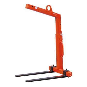 Raxwell 5吨自动平衡吊叉(高度可调),有效可调高度h=1300-2000mm货叉可调宽度530-1000mm,RMFC0008