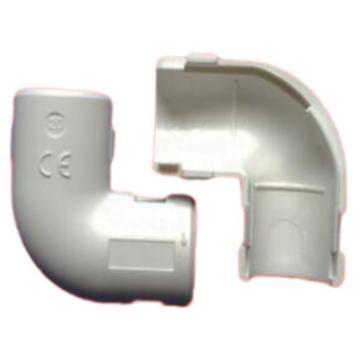 西域推荐 可拆卸 PVC走线管90°弯头 20mm 白色