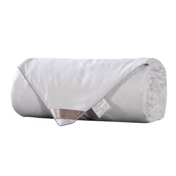 太湖雪 被芯家紡,100%桑蠶絲被 優質長絲 純棉斜紋面料白色 蠶絲凈重450g 150*215cm