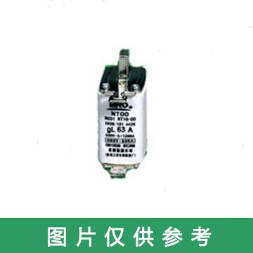茗熔MIRO 刀型熔断器 NT00 gG 500V/690V/63A 5个/盒 普通型