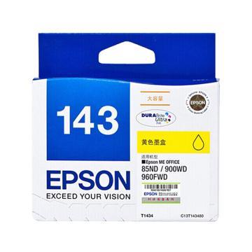 爱普生(EPSON)墨盒,T1434 黄色超大容量(适用WF-3011/7511/7521/7018/960FWD/900WD/85ND)