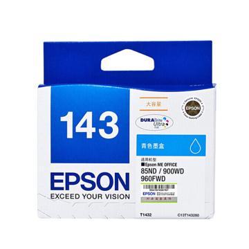 爱普生(EPSON)墨盒,T1432 青色超大容量(适用WF-3011/7511/7521/7018/960FWD/900WD/85ND)