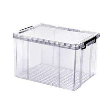 西域推薦 全透明PP整理箱,53*38.5*30.5cm,60L,載重15kg