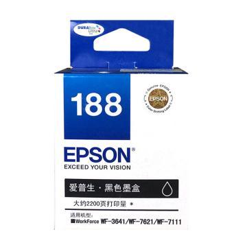 愛普生(EPSON)墨盒,T1881 黑色 (適用WF-3641/WF7111/WF7621)