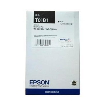 爱普生(EPSON)墨盒,T01B1黑色原装 (适用WF-C8690a/WF-C8190a机型)