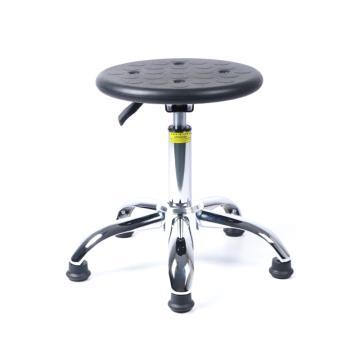 佰斯特 防靜電聚氨酯圓凳,425-565mm 防靜電輪 椅面不帶防滑花紋(不含安裝),Y-1B(固定調節腳)