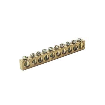 德力西DELIXI 接地铜条端子 6*8*79 10孔,DHAJDTW6H8B10
