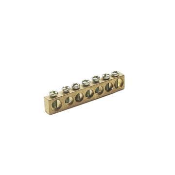 德力西DELIXI 接地铜条端子 6*8*55 7孔,DHAJDTW6H8B07