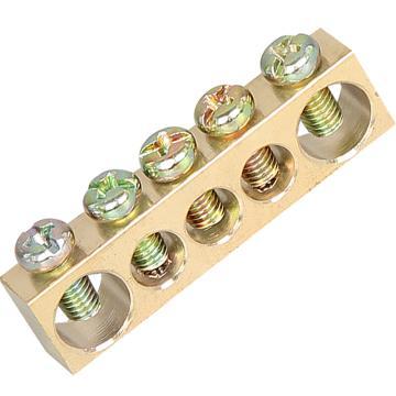 德力西DELIXI 接地铜条端子 6*8*39.5 5孔,DHAJDTW6H8B05