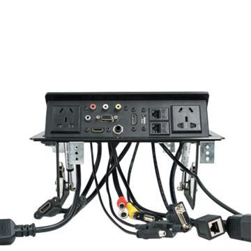 贝桥 多媒体桌面插座,LB0310 黑色款