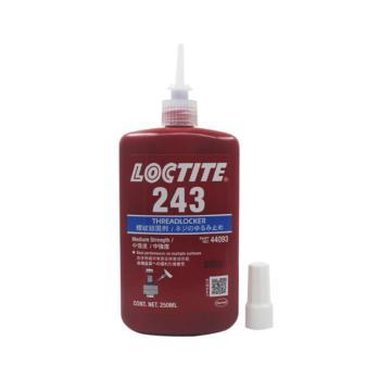 乐泰 螺纹 锁固剂,Loctite 243 中粘度 中强度型,250ml