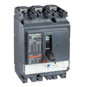 施耐德电气 塑壳断路器,NSX250H MA220 3P3D (3P) 固定式前接线 LV431756